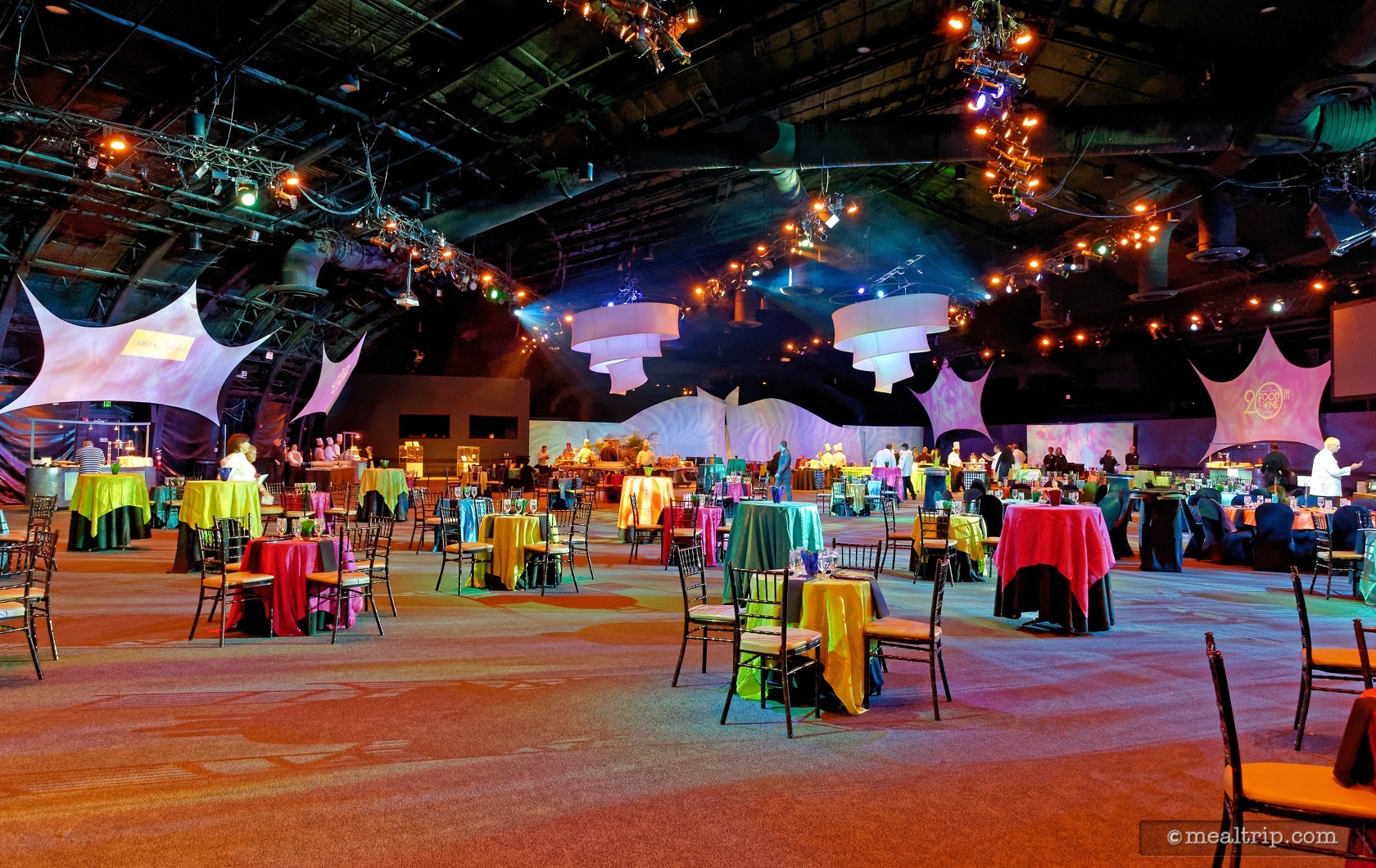 Exceptional The Spacious West Hall At Epcotu0027s World Showplace Events Pavilion Was Used  As The Main Dining