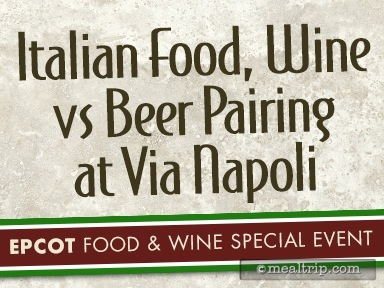 A review for Italian Food, Wine vs Beer Pairing at Via Napoli