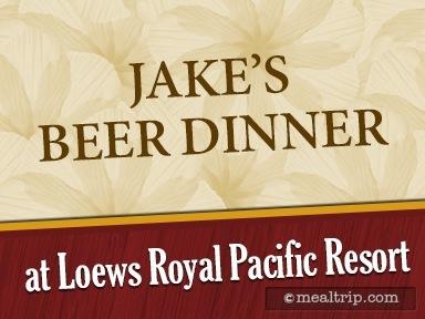 Jake's Beer Dinner