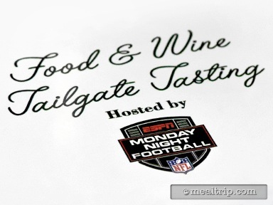 Food & Wine Tailgate Tasting Hosted by ESPN Monday Night Football
