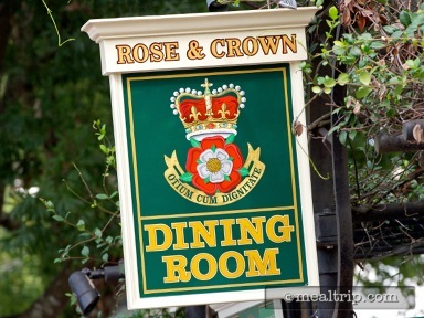 Rose & Crown Dining Room Lunch
